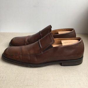 Hugo Boss Men US 11 Brown Leather Dress Loafers
